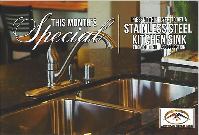 free in-house stainless steel sink
