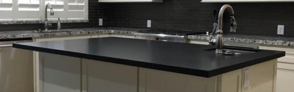 Granite Countertops With a Flat Polish