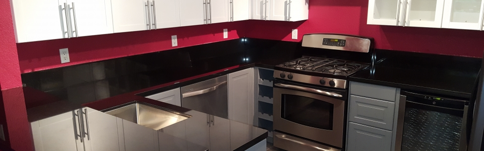 Pre-Fabricated Absolute Black Granite Countertops