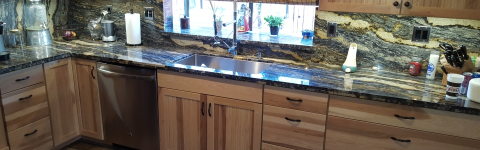 Pre-Fabricated Granite Kitchen Countertops